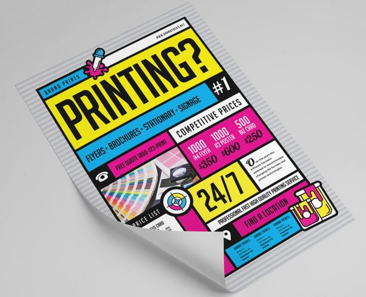 Free A4 Print Template for Printing Services