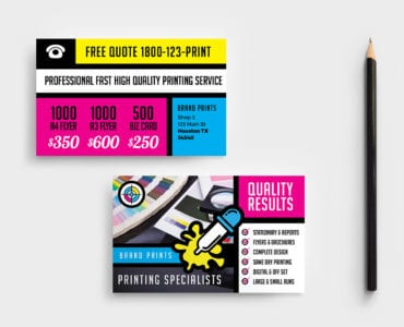 Free Print Shop Business Card Template