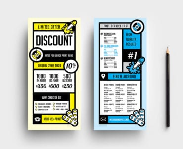 Free Print Shop DL Rack Card Template