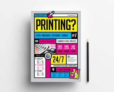 Free Print Shop Poster Template