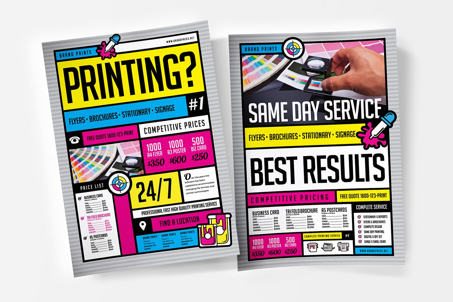 Free Print Shop Templates for Local Printing Services - BrandPacks