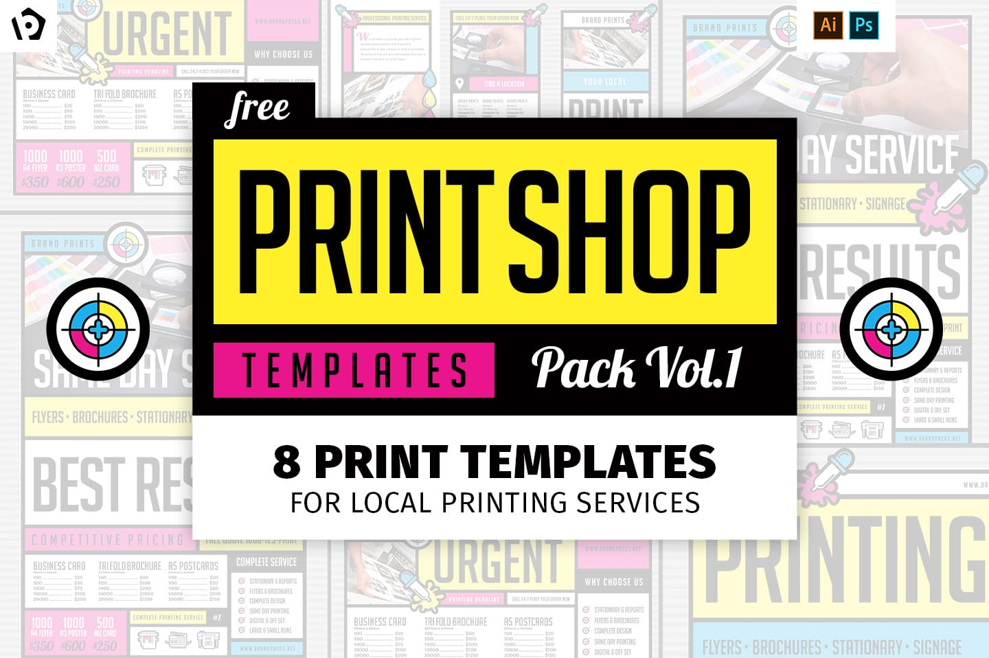 Free Print Templates Pack for Printing Services