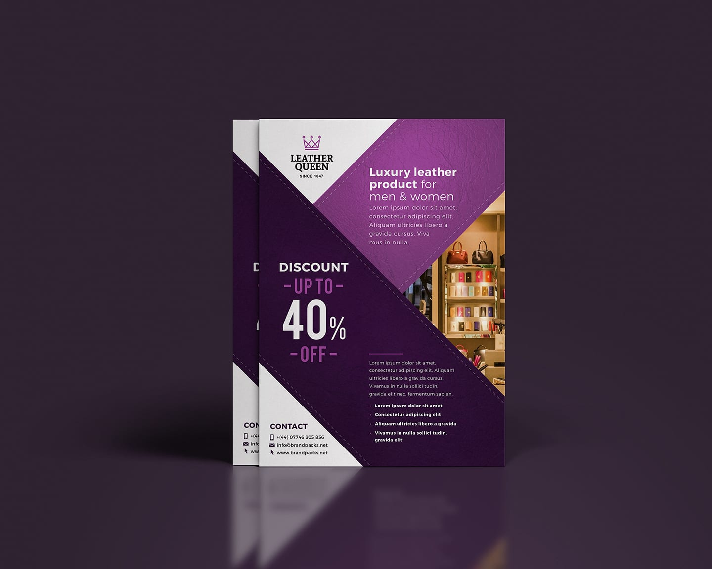 Free A4 Poster Template for Shops