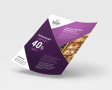 Free A4 Shop Poster Template