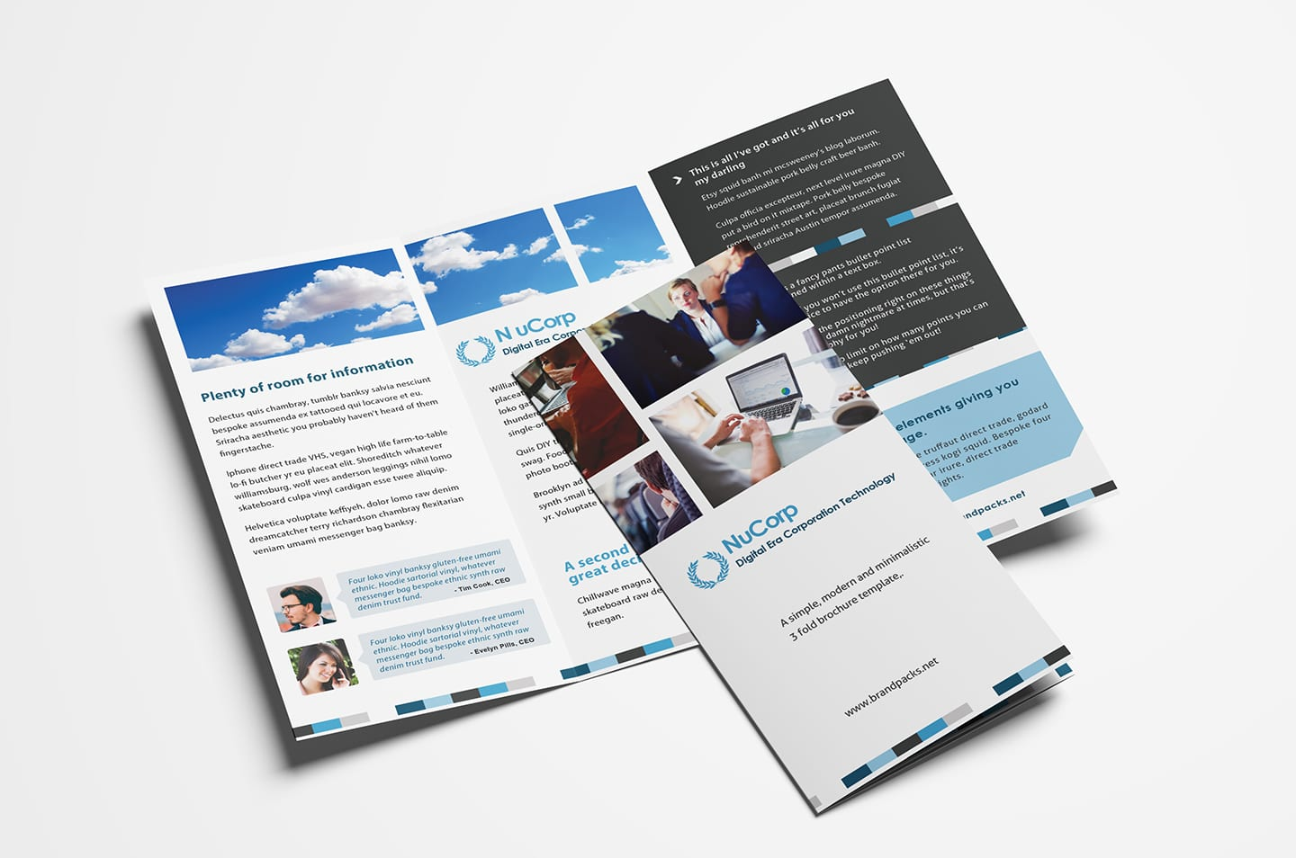 Free Corporate Trifold Brochure Template