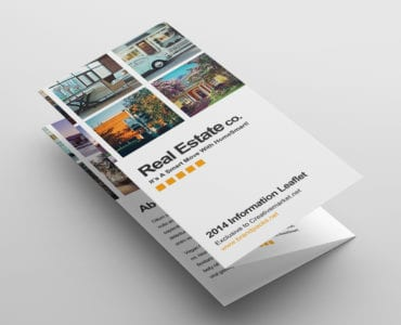 Free Real Estate Trifold Brochure Template Folded