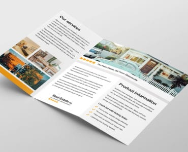 Free Real Estate Trifold Brochure Template Inside