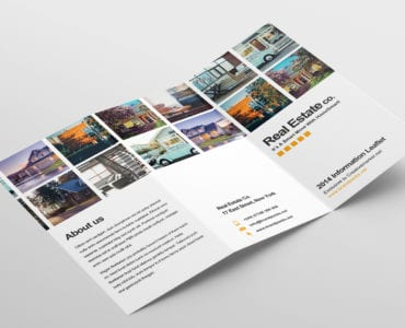 Free Real Estate Trifold Brochure Template Outside