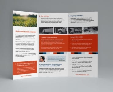 Free Trifold Brochure Template for Photoshop & Illustrator