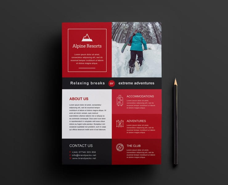 Free A4 Poster Template for Photoshop & Illustrator