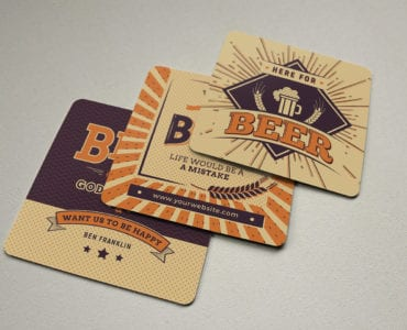 Free Beer Coaster Template