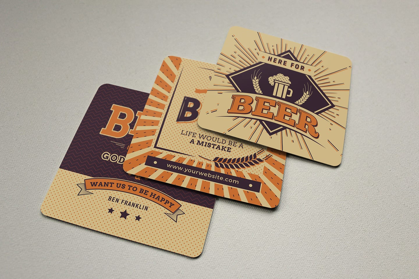 Free Beer Coaster Templates for Photoshop & Illustrator - BrandPacks