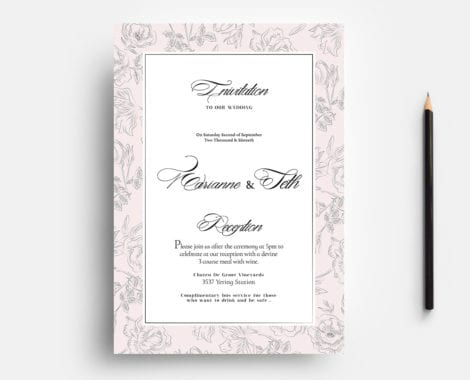 Free Wedding Invitation Flyer Template