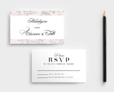 Free Wedding RSVP Card Template