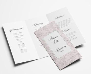 Free Weding Tri-Fold Brochure / Program Template