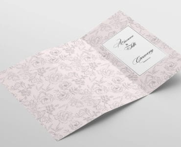Free Weding Tri-Fold Brochure Template