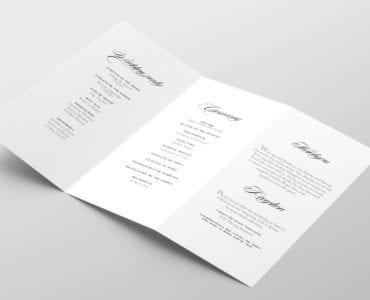 Free Wedding Tri-Fold Program Template