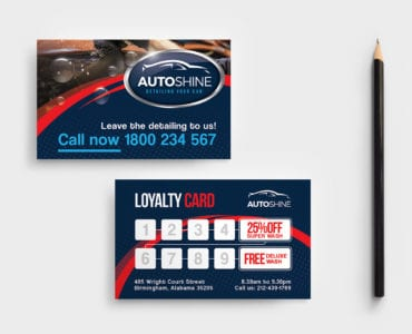 Free Car Wash Business Card Template