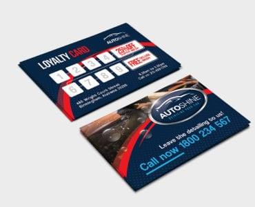 Free Car Wash Loyalty Card Template
