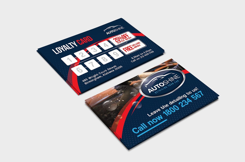 Free Car Wash Loyalty Card Template Item Description File Information