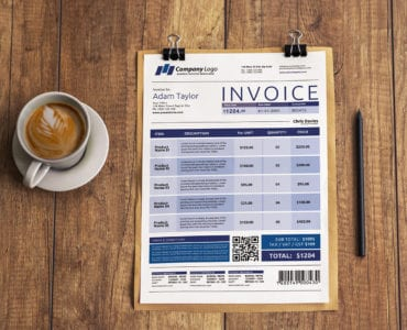 Free Invoice Template for Photoshop & Illustrator