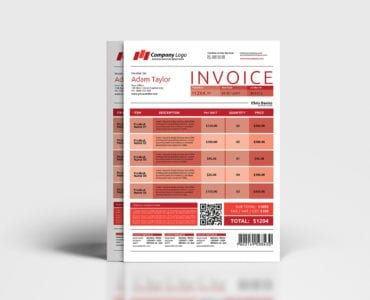 Free Invoice Template in PSD & Vector