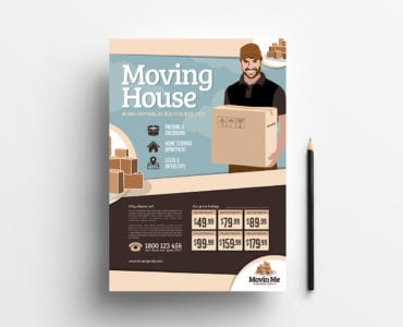 Free Moving House Poster Template