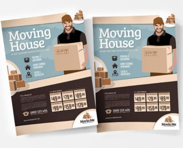 Free Moving House Poster Templates