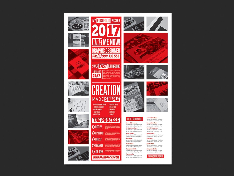 free portfolio poster template for photoshop  u0026 illustrator