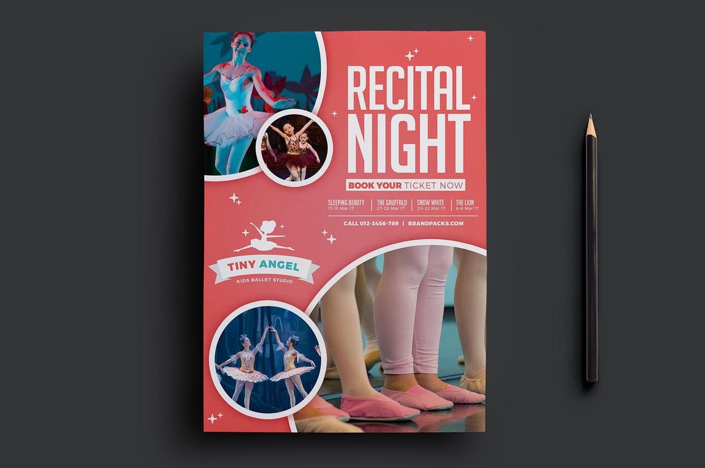 Free Kid's Ballet Flyer Template
