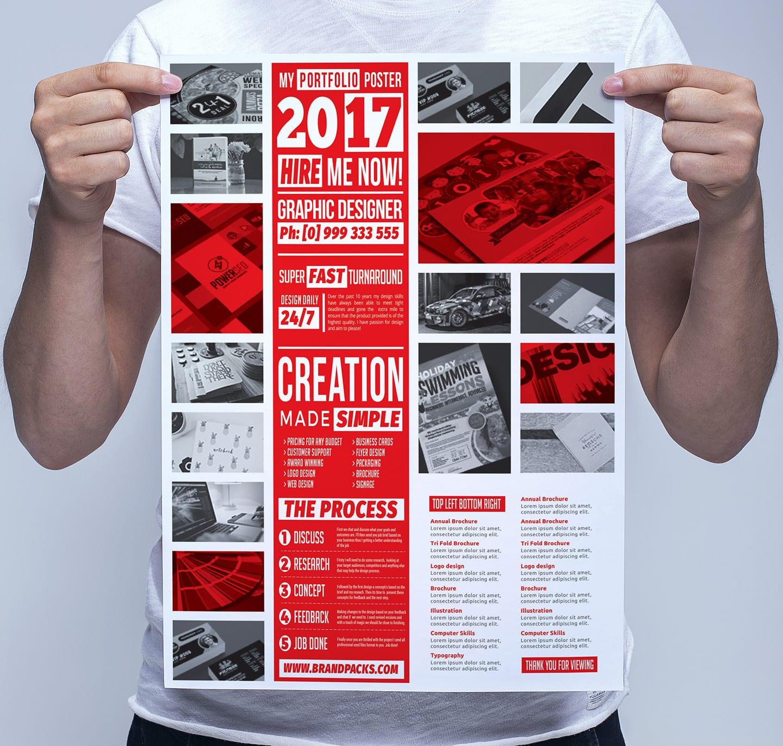 Free Portfolio Poster Template