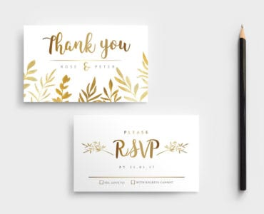Free Watercolour Wedding RSVP Template
