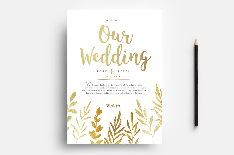 Free Watercolour Wedding Templates For Photoshop Illustrator