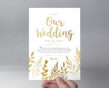 Free Watercolour Wedding Stationery Templates