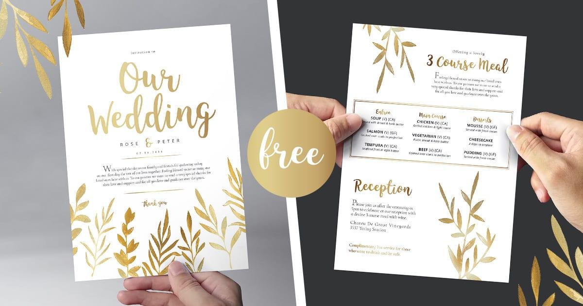 Free Watercolour Wedding Templates