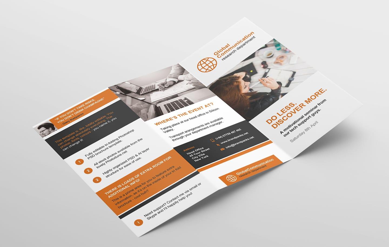 free 3-fold brochure template for photoshop  u0026 illustrator