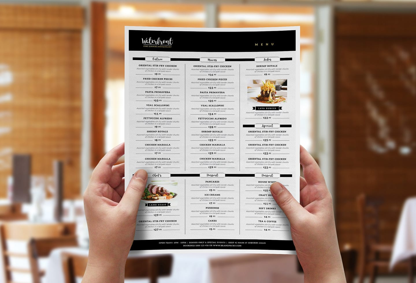 Free Menu Template vol 2 by BrandPacks
