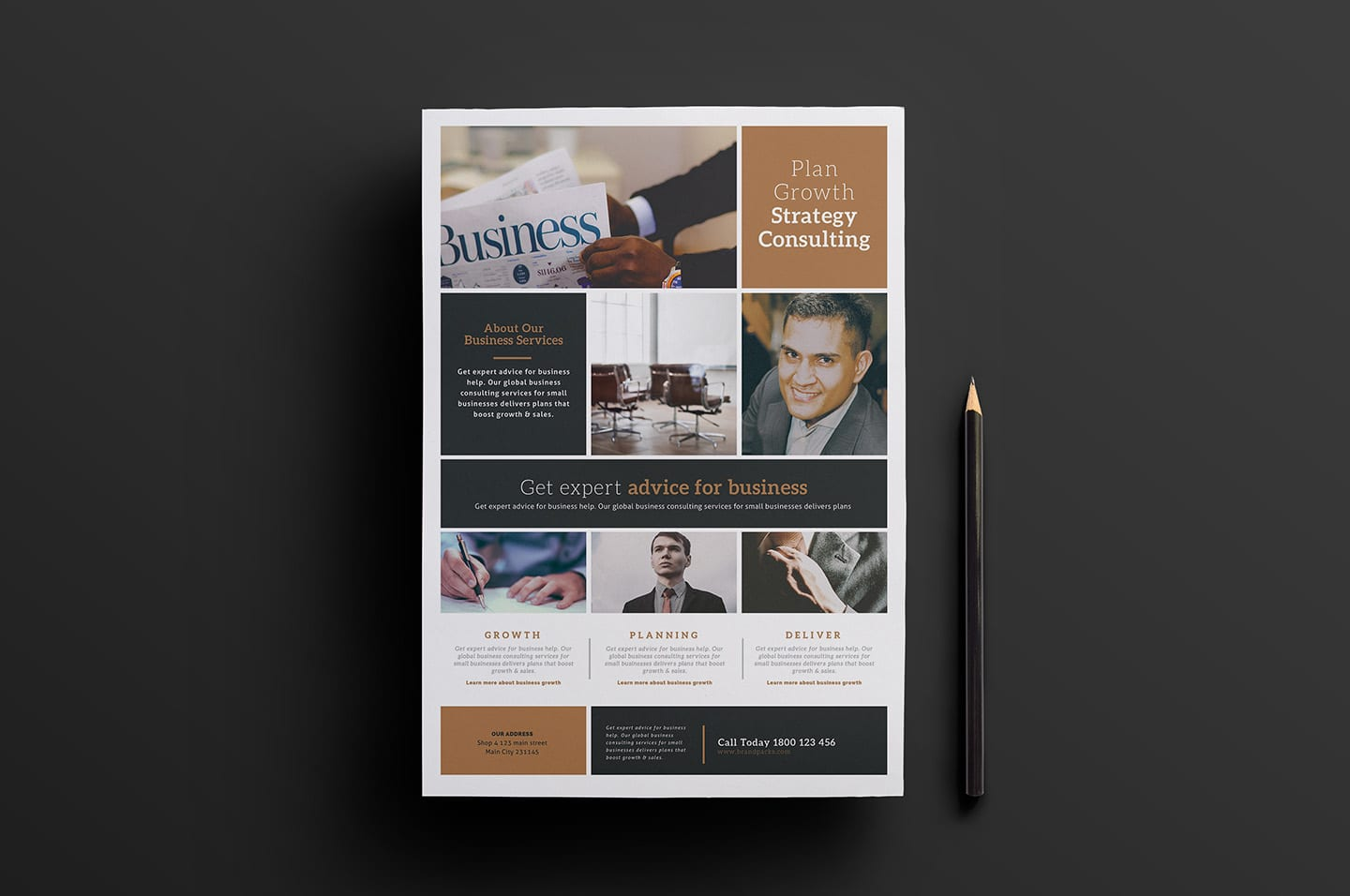 Free Multipurpose Business Poster Template