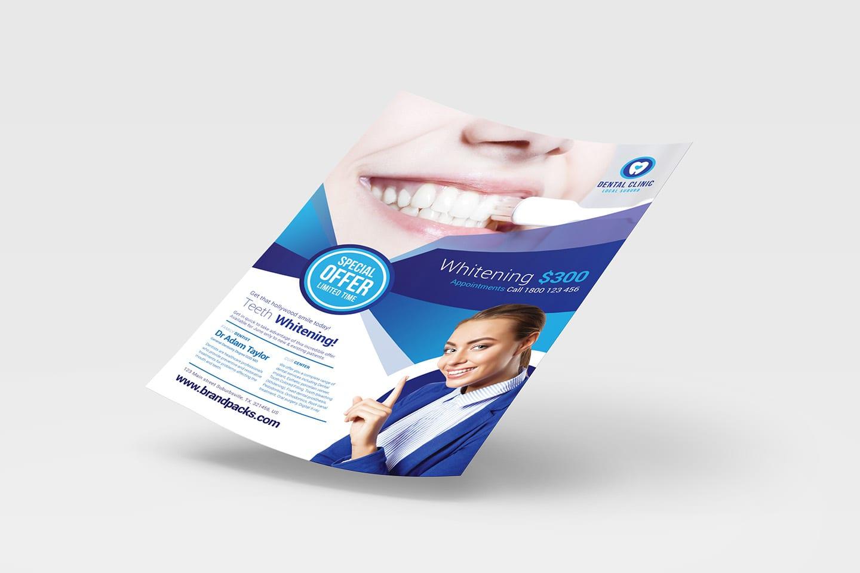 Free Dental Clinic Poster Template - PSD, Ai & Vector - BrandPacks