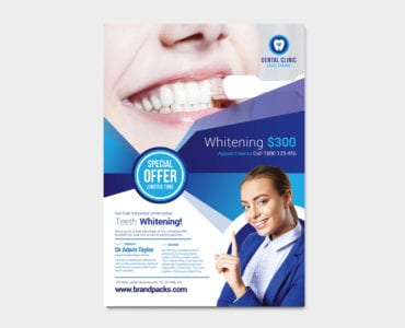 Free Dental Clinic Poster Template