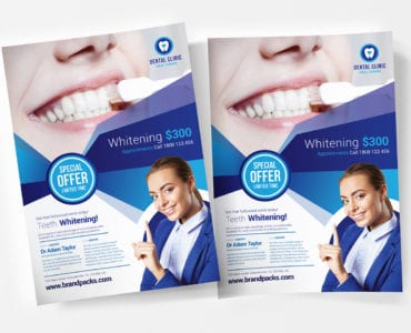 Free Dental Clinic Poster Templatea
