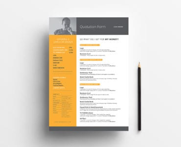 Free Quotation Form Template