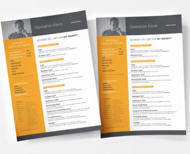 Free Quotation Form Templates