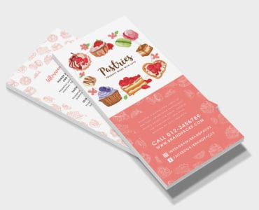 Free Bakery DL Rack Card Template