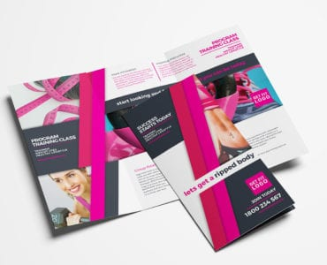 Free Gym / Fitness Trifold Brochure Template