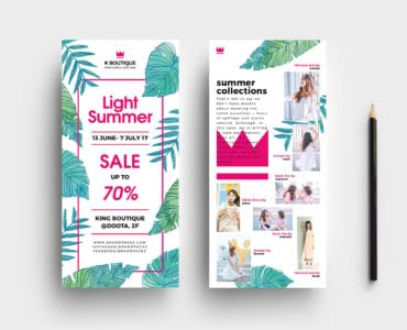 Free Summer Fashion Flyer Template