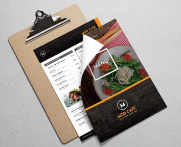 Free A4 Menu Template for Photoshop & Illustrator