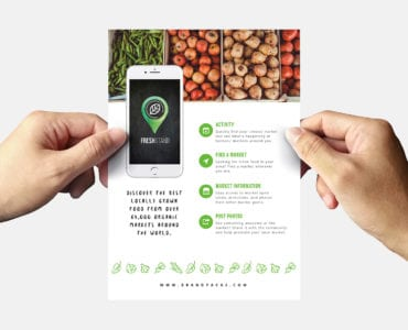 Free Organic Market Flyer Template