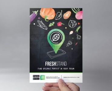 Free Organic Market Flyer Template