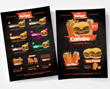 Free Fast Food Menu Template